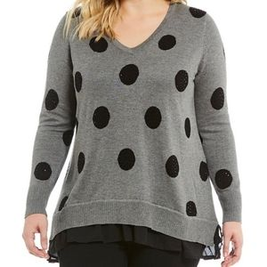 NWT Chelsea & Theodore Woman Polka For Sweater
